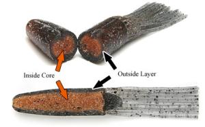 salty core tube keitech interior